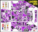 Purple Stickerbomb themed vinyl SKIN Kit & Stickers Fits Tamiya Lunchbox R/C Monster Truck